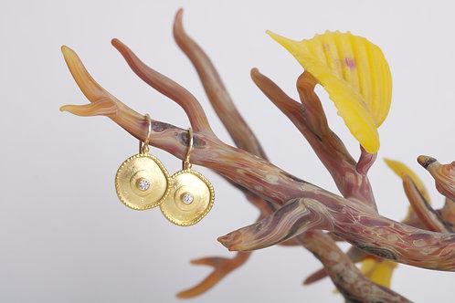 Irregular Shaped Dish Earrings (06491)