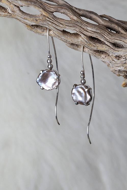 Fresh Water Pearl Earrings (02757)