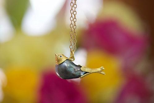 Tahitian Pearl Bird Pendant (06737)