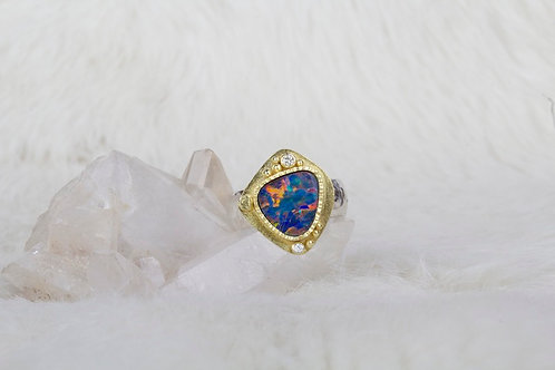 Opal Diamond Ring (03319)