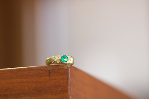 Emerald Engagement Ring (06733)