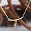 Thumbnail: Gold Diamond Briolette Necklace (04347)