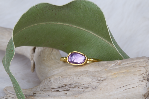 Pink Sapphire Gold Ring (04562)