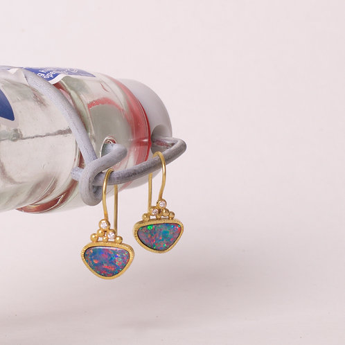 Opal and Diamond Earrings (06825)