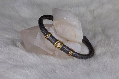 Diamond Mixed Metal Bracelet (01994)