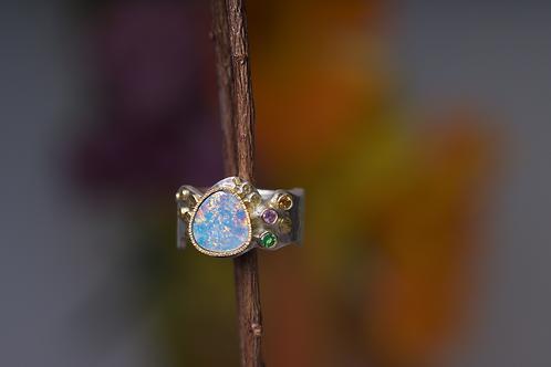 Opal Sapphire Ring (04039)