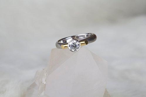 White & Yellow Gold Diamond Ring (9092)