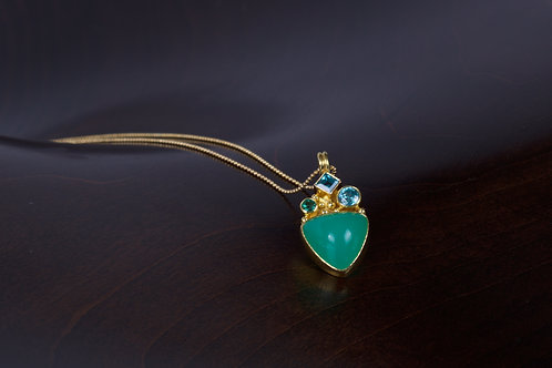 Colorful Chrysoprase Pendant (05083)