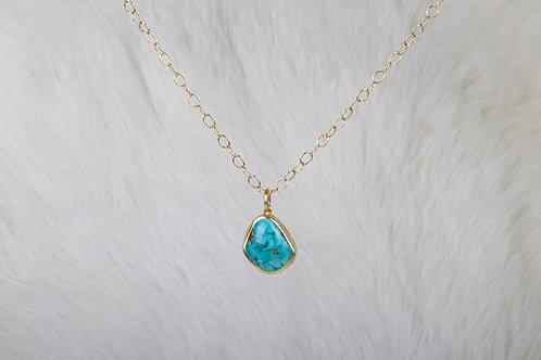 Turquoise Gold Pendant (03289)