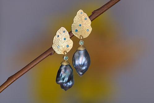 Keshi Pearl Earrings (06178)