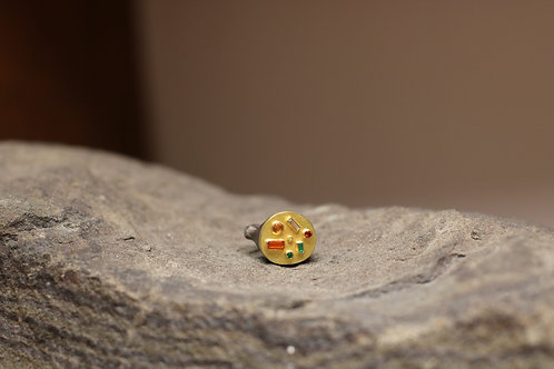 Mixed Gemstone Free Form Ring (06862)