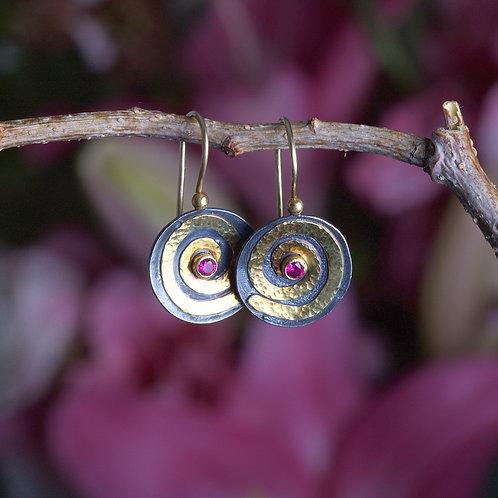 Sapphire Swirl Earrings (06008)