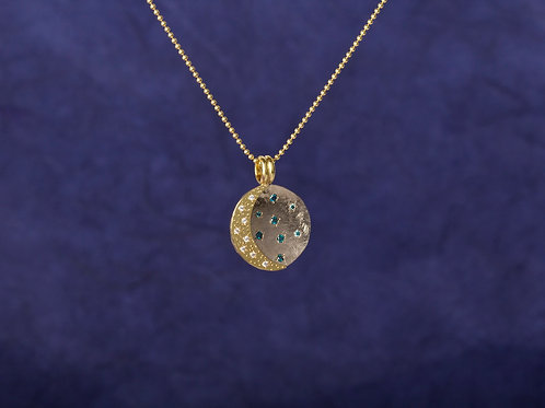 Yellow Gold Moon Pendant (02315)