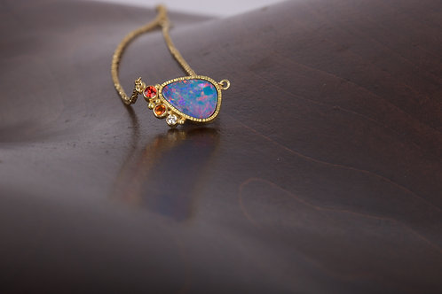 Opal and Sapphire Necklace (05499)