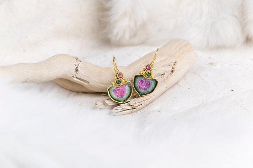 Watermelon Tourmaline Earrings (03871)