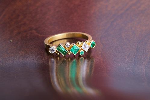 Emerald Engagement Ring (06838)