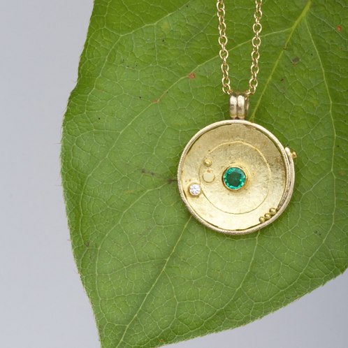 Gold Emerald Pendant (04103)