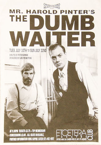 The Dumb Waiter play poster