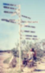 Australian outback signpost