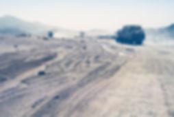 Trucks crossing Sahara