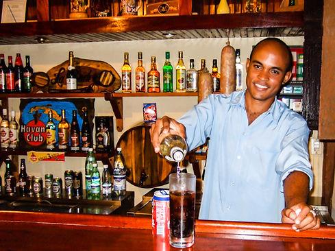 Cuban barman