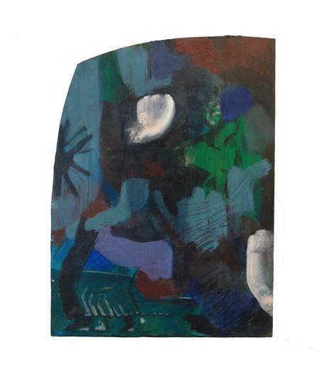 Untitled, oil on wood, 26x19cm, 2018