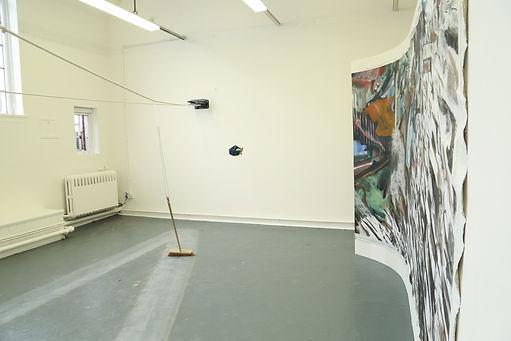 Show installation shot, Newcastle University, 2018. Kinetic sculpture by fellow graduate: Rosanna Hamilton-Briscoe