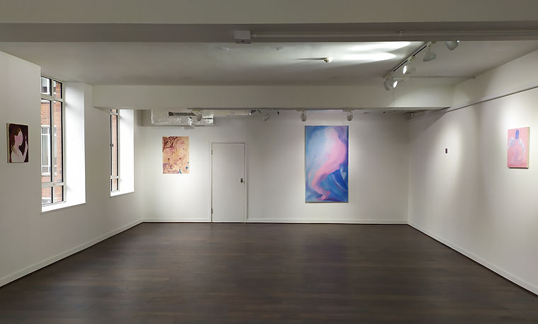 Installation view of Material Figures at VO Curations, London, 2020