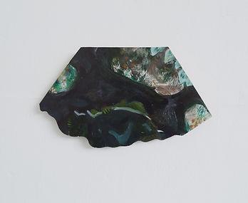 Hide!, oil on wood, 17x24cm, 2018