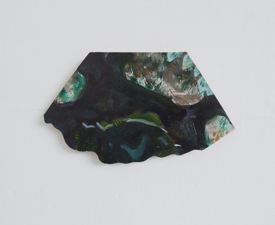 Hide! oil on wood, 17x24cm, 2018