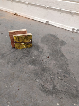 Hitman (detail), oil on plywood, 2019