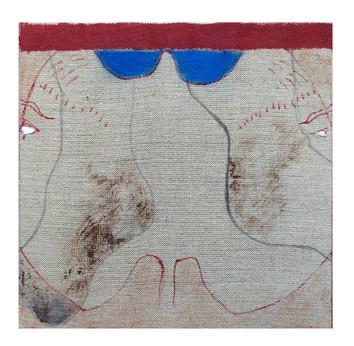 Tradicio, ink and pastel on linen, 30x30