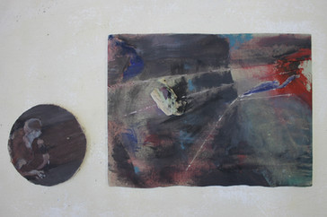 Untitled, Oil on board, 24x55cm