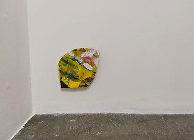 Let go!, oil on mounted sanpaper, 11x9cm, 2020