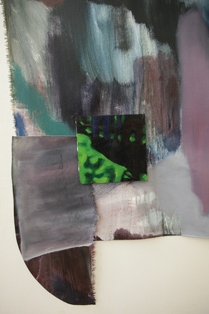 Lucy's Chair (detail), oil, charcoal and pastel on canvas and plywood, 250x300 cm, 2018