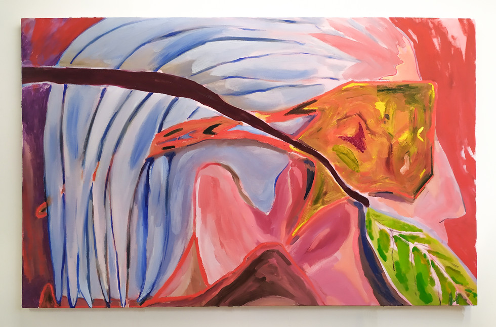 Wait until the last leaves of Autumn fall on your shoulders, oil on canvas, 167x102 cm