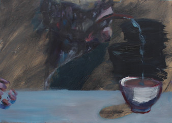 Anonymous Donation, Oil on wood, 23x45cm