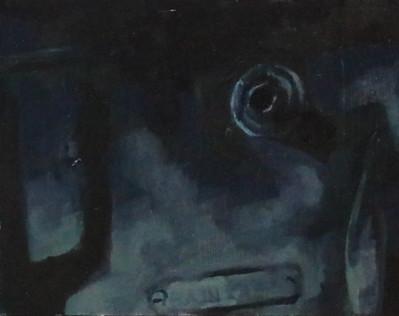 Control, oil on wood, 11x15cm, 2018