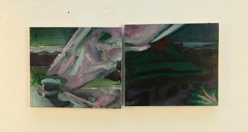Untitled, oil on wood, 12x25cm, 2018