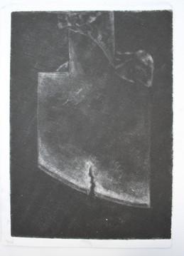 Untitled, mezzotint, 18x10