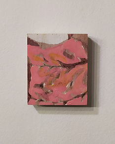 Hold me back!, oil, enamel paint and ink on plywood, 9x8cm, 2019