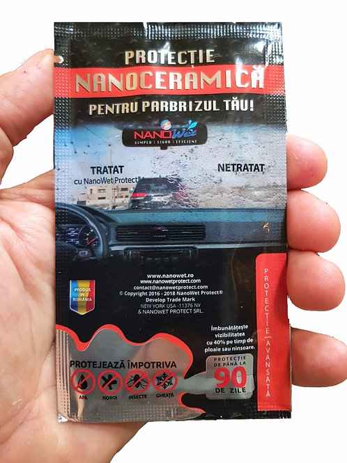 Pachet 4 servetele NanoWet Protect® impregnate cu nanoceramica tratament parbriz