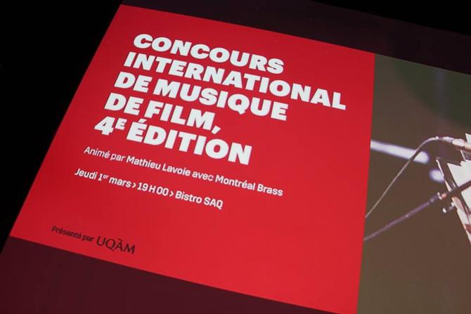 Finaliste au Concours International de Composition de Musique de Film de Montréal