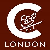 C London Logo White Maroon Background.pn