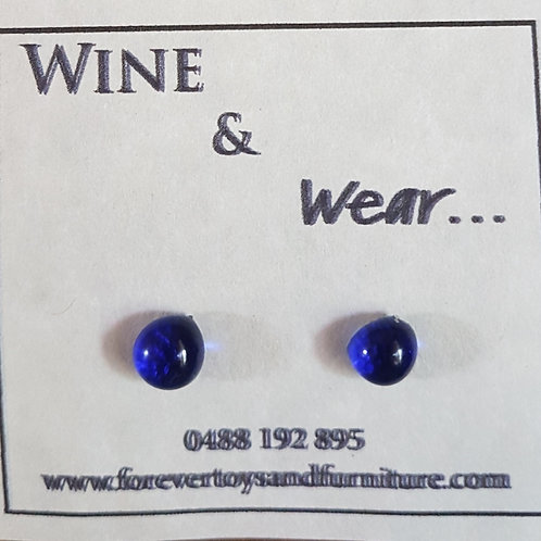 Wine and Wear Stud Earrings 8mm