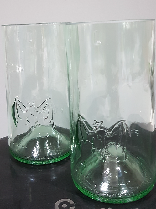 Bacardi tumbler glass set of 2