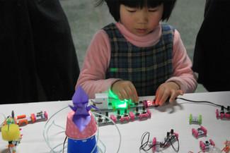 「上モノラボ」、littleBits SYNTH KITワークショップ
