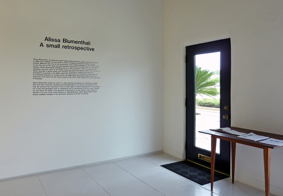 Alissa Blumenthal at Art Palace Gallery (Houston, TX), 2013