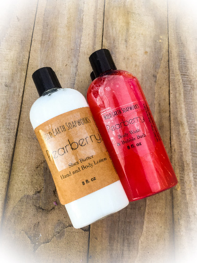 This Pearberry Set Comes With An 8oz Shea Butter Body Cream And Wash Bubble Bath The Can Be Used In Shower As A