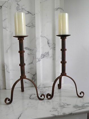 SOLD OUT!!Pair of Spanish Candlesticks